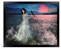 Misty Moonlight, Framed Print