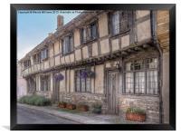 Cerne Abbas Cottages, Framed Print