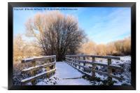 Snowy Nantwich, Framed Print