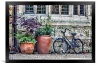 Pots and Bicycle, Framed Print