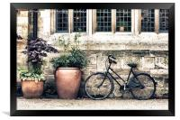 Bicycle and Pots, Framed Print