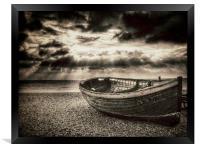 Brighton Beach Boat, Framed Print