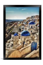 Oia, Santorini, Greece, Framed Print