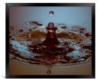Coke Cola drops, Framed Print
