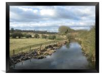 River Ver at St Albans, Framed Print