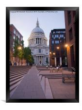 St Pauls Cathedral from Millenium Bridge, Framed Print