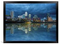 Docklands London, Framed Print