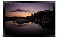 Torquay Harbour Sunset, Framed Print