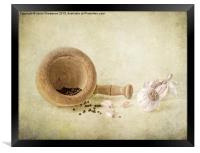 Garlic & peppercorns, Framed Print