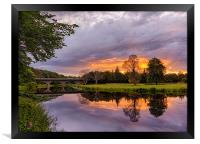 River Don Sunset, Framed Print