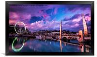 Riviera Reflections, Framed Print