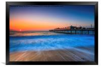 Paignton Beach Sunrising., Framed Print