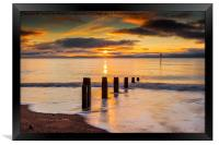 Beach Golden Sunrise, Framed Print