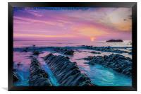 Purple Sunset, Framed Print