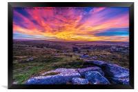 Saddle Tor Sunset, Framed Print
