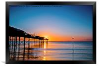 Teignmouth Pier Sunrise, Framed Print