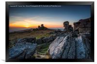 Staple Tor Sunset, Framed Print