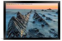 Hartland Quay Sunset., Framed Print