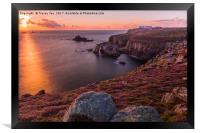 Lands End Sunset, Framed Print