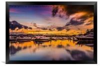 Torquay Marina Sunset., Framed Print