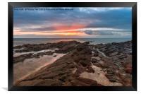 Shoalstone Sunrise., Framed Print