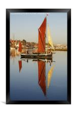 Plane sailing on calm water, Framed Print