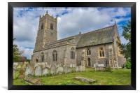 Garboldisham Church  Norfolk, Framed Print