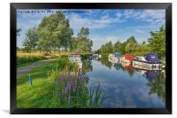 Summer river scene, Framed Print