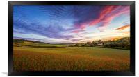 Sunset on Poppy Field in Kent, Framed Print