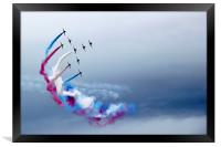 Red arrows flyby, Framed Print