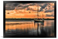 Surreal Sunset over the backwaters, Framed Print