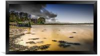 High Tide At The Quay, Framed Print