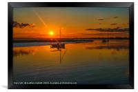 Titchmarsh Marina Essex April 2016 Sunset Colour, Framed Print