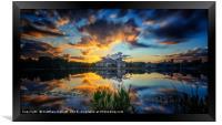 Fast Moving Celebration Sunset, Framed Print