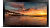 Red Sky Morning At Frinton On Sea, Framed Print