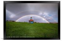 Double Rainbow Over Frinton On Sea, Framed Print