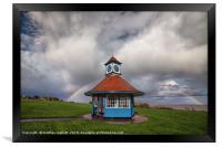 Rainbow At Frinton Clocktower, Framed Print