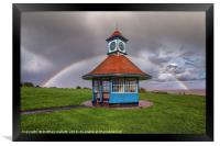 Rainbows Over Frinton Clocktower, Framed Print