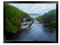 Chainbridge over the River Dee, Framed Print