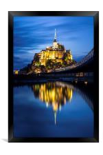 Le Mont Saint-Michel at dusk, Framed Print