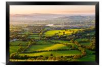 The rolling Herefordshire hills, Framed Print