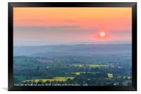 Herefordshire sunset, Framed Print