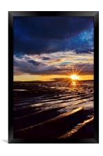 Sunset on Stevenston Beach, Framed Print