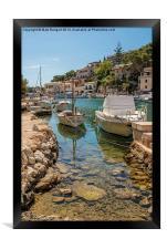 Harbour, Cala Figuera, Framed Print
