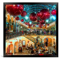 Christmas at Covent Garden, Framed Print