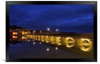 Bideford Long Bridge by Night, Framed Print