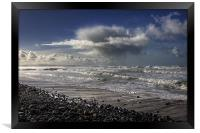 Great Waves at Sandymouth Cornwall, Framed Print