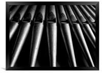 Church Organ Pipes, Framed Print