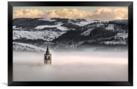 Montorsello fog, Framed Print