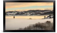 A sea of fog, Framed Print